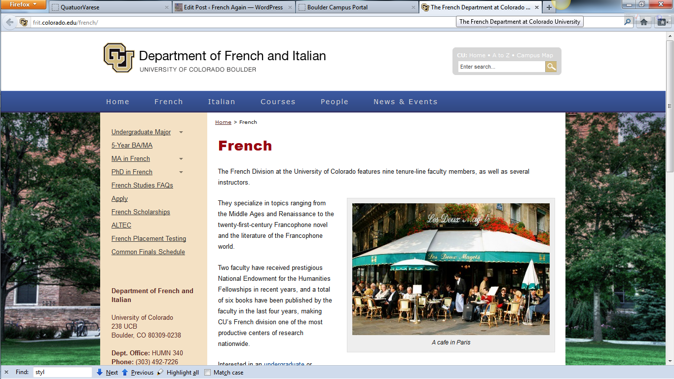 Improve your French during the Summer at CU Boulder – French