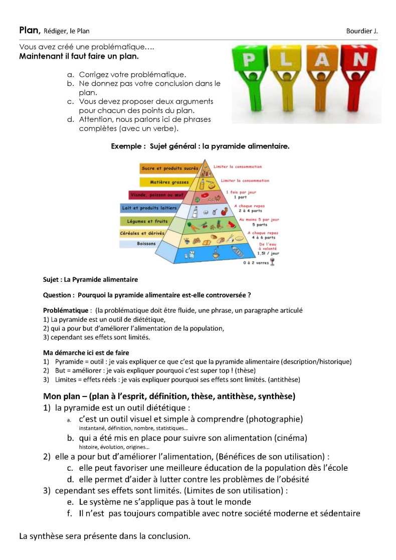 Rédiger le plan 2014