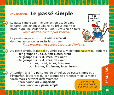 verbes pass simple french again juliette bourdier. Black Bedroom Furniture Sets. Home Design Ideas