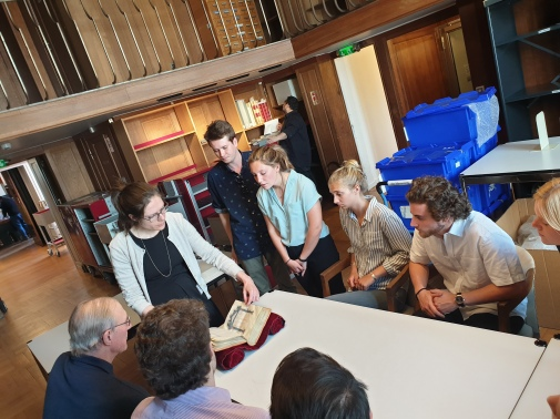 Cofc Students meets a 1100 old manuscript